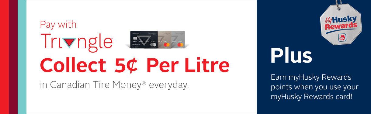 Canadian Tire Mastercard >> Triangle Mastercard Myhusky Ca