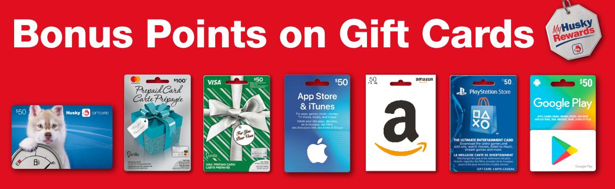 Gift Card Bonus Points